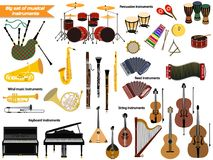 Set of musical instruments. Vector illustration Royalty Free Stock Photos