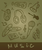 Set of musical objects. Royalty Free Stock Photos
