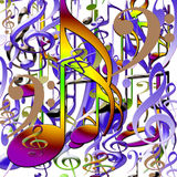 Set of musical symbols . Royalty Free Stock Photos