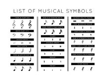 Set of musical symbols Stock Photography