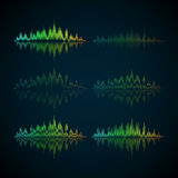 A set of musical waves in the form of equalizer. Modern vector illustration vector illustration