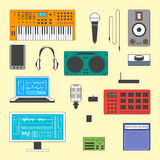 Set of musician digital equipment. Stock Images