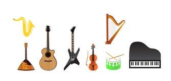 Set Musik-Instrumente Stockfoto