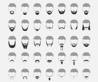 Set of mustache and beard Stock Photo