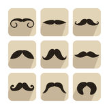 Set of mustache icons Royalty Free Stock Photo