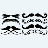 Set mustache Stock Photos