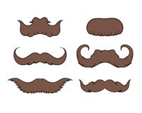 Set of Mustache Stock Images