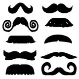Set of mustache - vector Stock Images