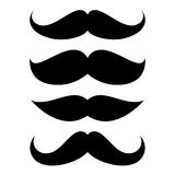 Set of mustache. Vector illustration Stock Photo