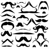 Set of mustaches for fun Royalty Free Stock Images