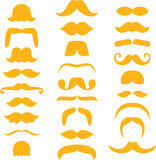 Set of mustaches. Illustrated set of different mustaches or beards, white background Stock Image