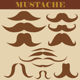 Set of mustaches Royalty Free Stock Photography