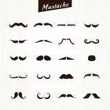 Set of mustaches  Royalty Free Stock Photo