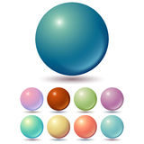 Set of muted color balls Stock Photos