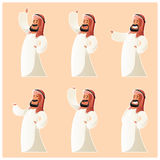 Set Muzułmańscy postać z kreskówki Zdjęcia Stock