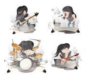 Set muzycy Zdjęcie Royalty Free