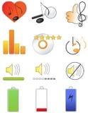 Muzyczne ikony 2 Zdjęcia Stock