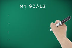 Set my goals Royalty Free Stock Image