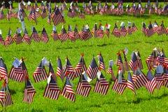 Set my patriotyczne flaga blue czerwonym white Obraz Royalty Free