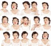 Set nützliche Gesichter Stockfotos