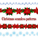 Set of n Seamless Christmas borders Stock Photography