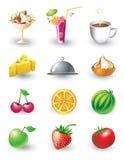 Set Nahrungsmittelnachrichten Stockbilder