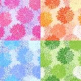 Set nahtlose Blumenmuster Lizenzfreie Stockfotos