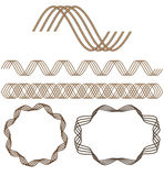 Set nahtlose dekorative Elemente. Lizenzfreie Stockbilder