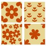 Set nahtlose mit Blumenmuster Lizenzfreie Stockfotos