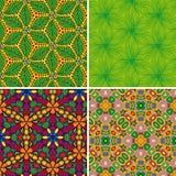 Set nahtlose Muster 3 Lizenzfreies Stockfoto