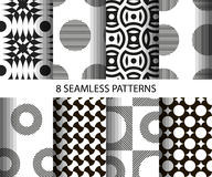 Set nahtlose Muster Stockfotografie