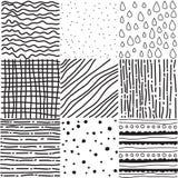 Set nahtlose Muster Stockbild