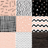 Set nahtlose Muster Stockbilder