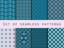 Set nahtlose Muster geometrisches nahtloses Muster Retro- colo Stock Abbildung