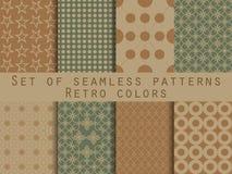 Set nahtlose Muster geometrisches nahtloses Muster Retro- colo Vektor Abbildung