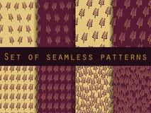 Set nahtlose Muster nave Das Muster für Tapete, Fliesen, Gewebe und Designe stock abbildung