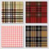 Set nahtlose Muster Textilverzierungen Lizenzfreie Stockfotos