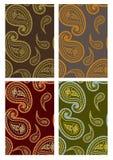 Set nahtlose Paisley-Hintergründe Stockfotografie
