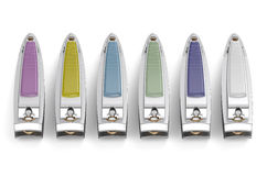 Set of nail clippers isolated Royalty Free Stock Photo