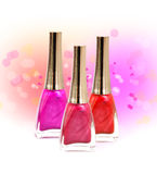 Set of nail polish Stock Photo