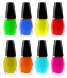 Set nail polish Stock Images