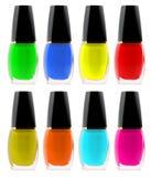 Set nail polish Stock Images