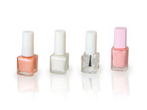 Set of nail polish for French manicure Stock Image