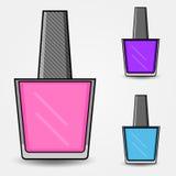 Set of nail polish, vector Royalty Free Stock Images