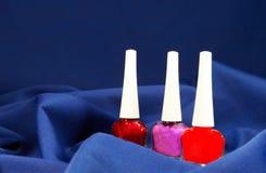Set of nail polish Stock Photography