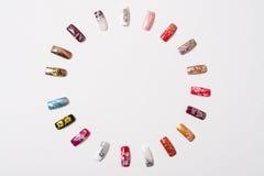 A set of nails. A set of false nails Royalty Free Stock Photo