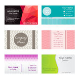 Set of Name Cards Template Stock Photo