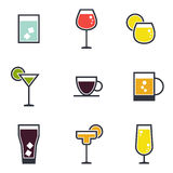 Set napój ikony Obraz Stock