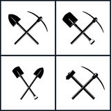 Set narzędzia dla ekskawaci ilustracji