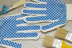 Set narzędzia dla malować dom Zdjęcie Royalty Free